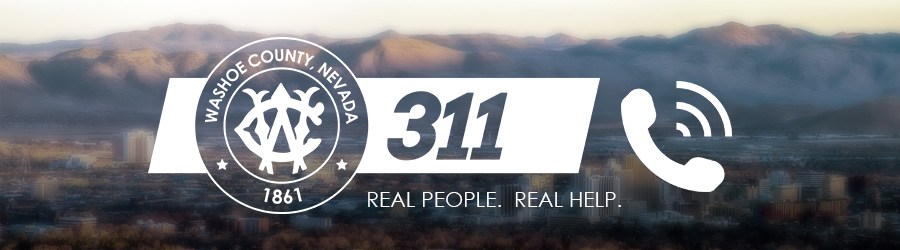 Washoe311.  Real People.  Real Help.