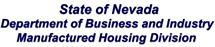 NV State Dept of B&I MFG Housing Div