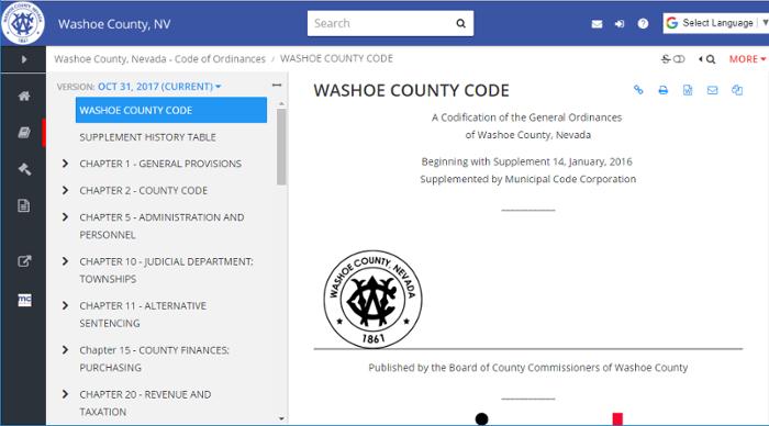 Washoe County Code