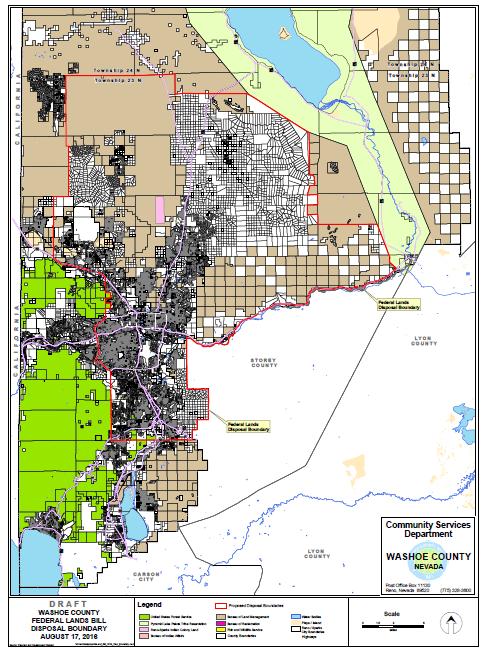 Washoe County Public Lands Bill - Publi lands map us
