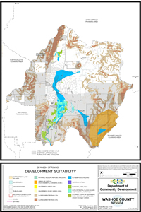 Spanish Springs Development Suitability Map