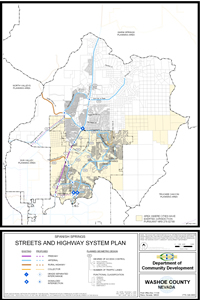 Spanish Springs Streets and Highways System Plan Map