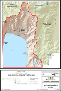 Incline Village/Crystal Bay Citizen Advisory Board map