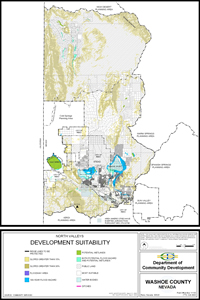 North Valleys Development Suitability Map