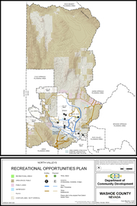 North Valleys Recreational Opportunities Plan Map