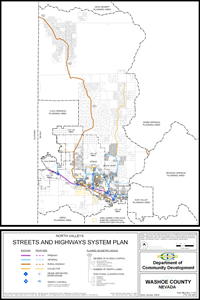 North Valleys Streets and Highways System Plan Map