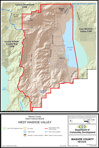 West Washoe Valley Citizen Advisory Board map