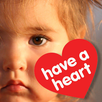 Image of child with Have a Heart logo