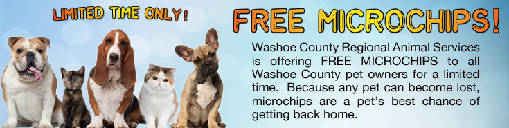 Free Microchips for Washoe County Pet Owners